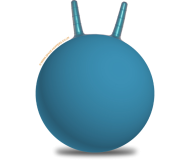 35cm Plain Blue Space Hopper