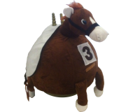 66cm Adult Plush Horse Space Hopper