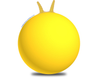 Plain 66cm Adult Space Hopper Yellow