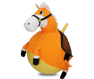 40cm Plush Pony Space Hopper Orange Horse