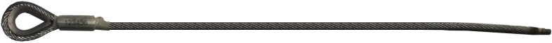 Zip Wire Cable - Hard eye - Machine weld - Protection sleeve - 19x7 strand - Fused and tapered