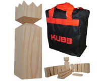 Kubb - Hardwood Wooden With Carry Bag (Kings Games)