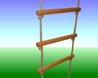 Deluxe Wooden Rope Ladder 5 Rung
